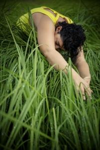 animal, animaux, bête à cornes, étang, été, féminité, femme, herbe, herbe haute, jaune, marais, mode, nature, paysage, printemps, sauvage,