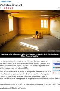 abbaye bèze exposition financement participatif dame roiseau lyre jean-marc tournois photographie sculpture,