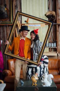 thème cirque funky et steampunk,mariage alternatif