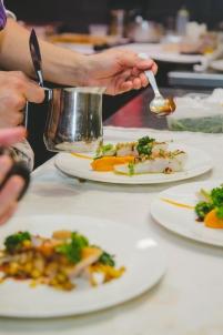 assiettes, sauce, dressage, saler, poivrer,Dijon Bourgogne